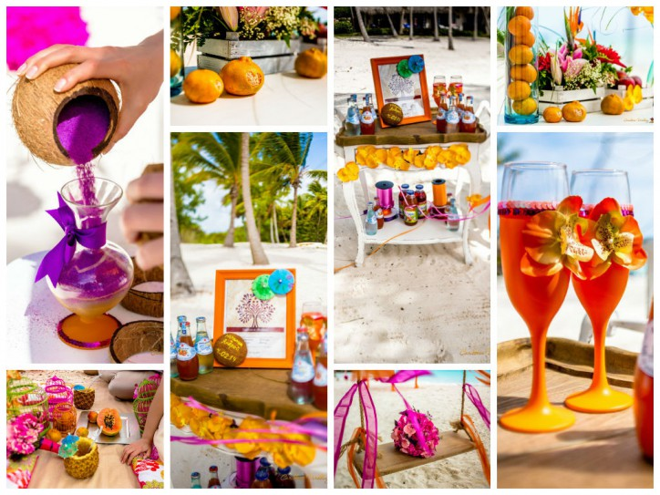 Tropical wedding style