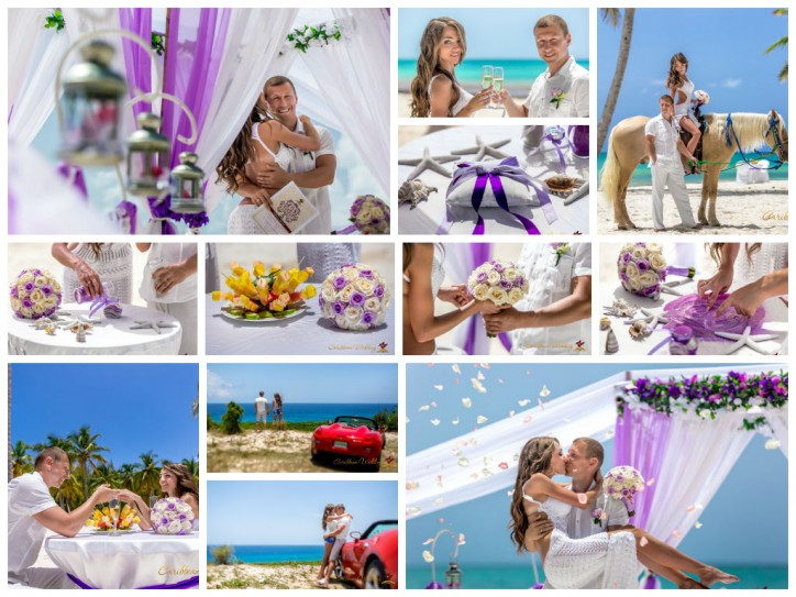 Violet wedding in Dominican Republic