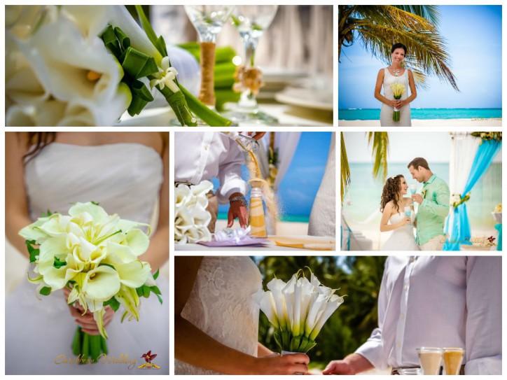 Fresh flower calla on the wedding decoration