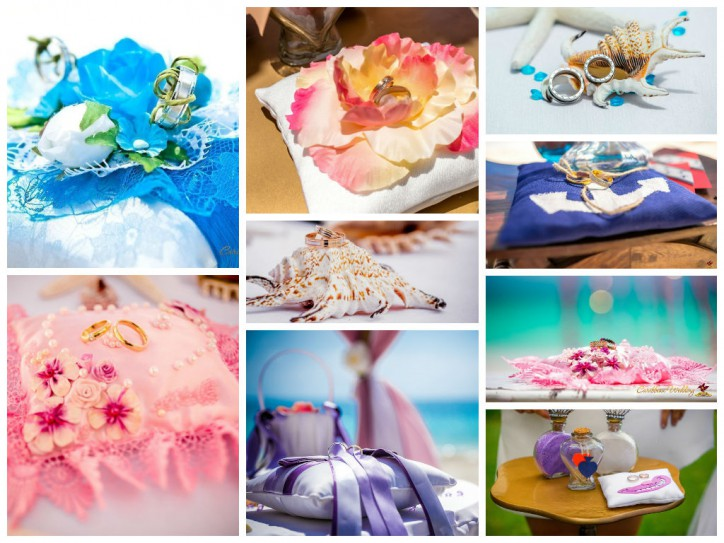 Ring pillows from Caribbean Wedding