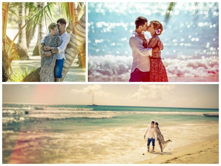 Marseilles&Julia, Wedding photo set on the Saona island