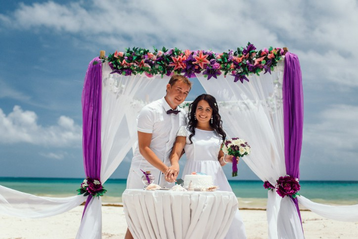 Symbolic wedding ceremony in Dominican Republic