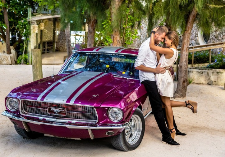 Ford mustang for wedding photo session