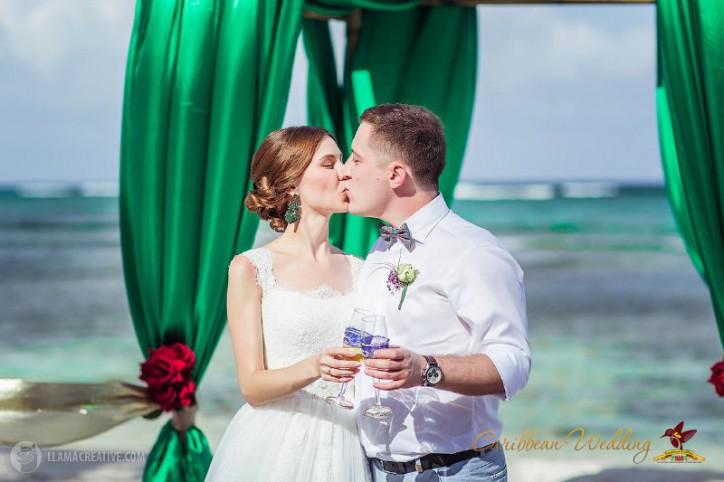 """""""PEACOCK WEDDING"""" IN DOMINICAN REPUBLLIC, ALEX&NASTYA"""