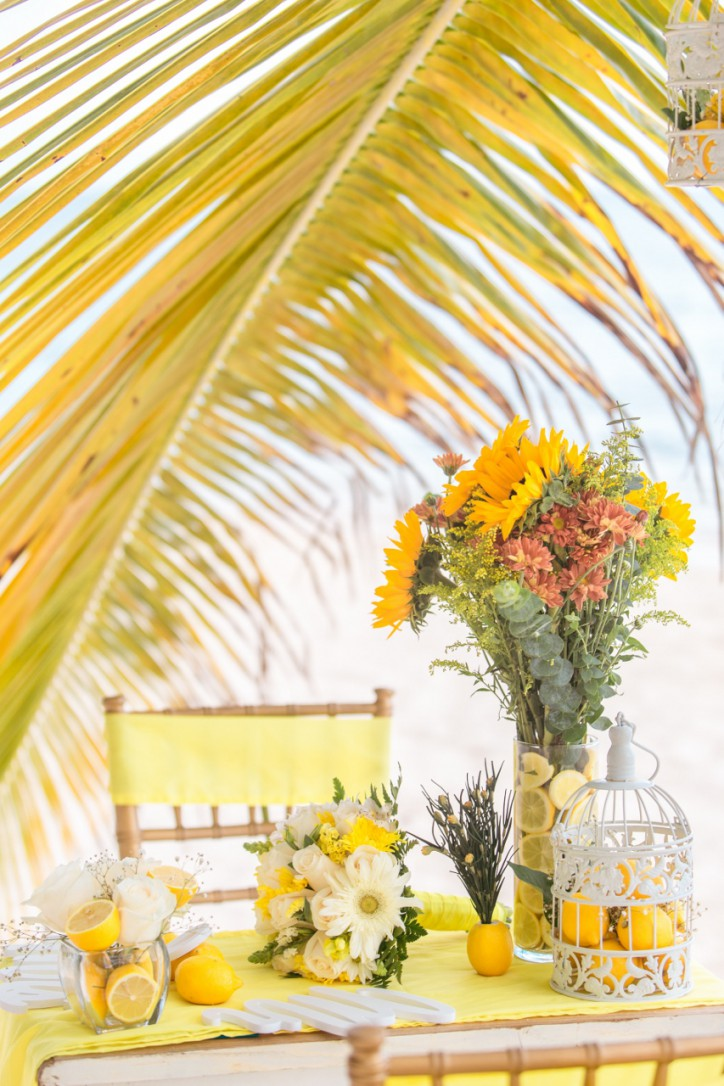 Citrus Themed Wedding on Colibri beach in the beautiful Dominican Republic (Ruslan and Gulzhiyan)