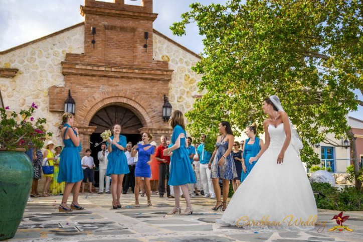 The wedding ceremony in the church of Cap Cana, Matthew and Stephanie