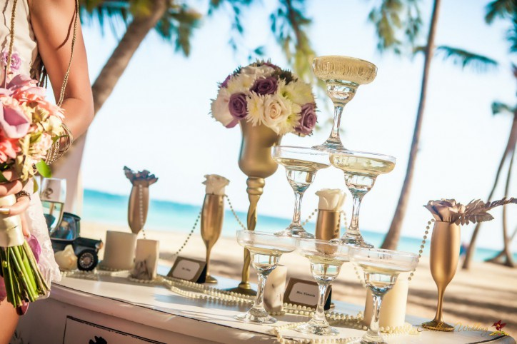 Art Deco Gatsby Wedding Inspiration from Caribbean Wedding