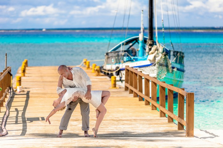 Vows Renewal on the Yacht in Catalina Island, Dominican Republic