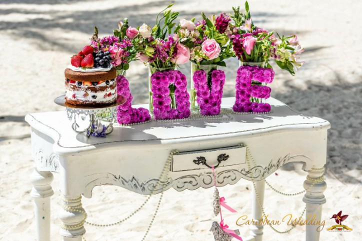 Shabby Chic Cap Cana Beach Wedding