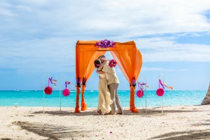 symbolic  civil wedding in Dominican Republic cap cana beach photography in dominican republic wedding photosession tropical style wedding wedding arch wedding decoration tropical wedding caribbean wedding punta cana  21