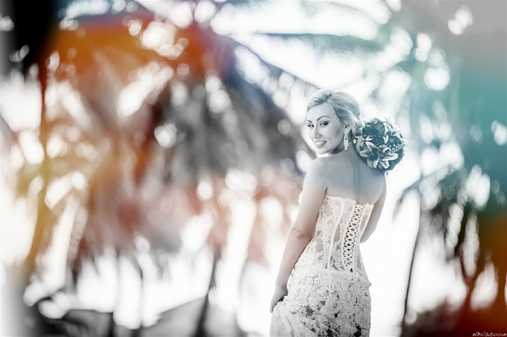 Wedding photo set in Dominican Republic