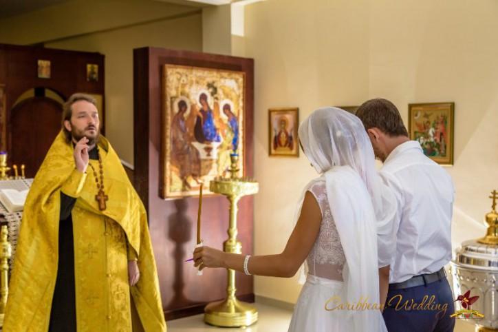 Orthodox wedding ceremony in Dominican Republic {Olga+Alexander}
